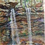 Adams Falls, Lynn Run, 2004  Oil on canvas, 36 x 24,