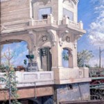 Federal Street Bridge, 1974     Oil on canvas, 42 x 30, Private Collection
