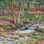 Furnace Run, 2010     Casein on board, 15 x 20, Private Collection