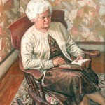 Portrait of the Artist's Mother Reading, 1964     Oil on canvas, 46 x 40, Collection of the Artist