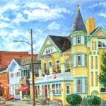 Main Street Ligonier (Tavern), 2003     Casein, 20 X 28
