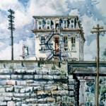 Loyal Hotel, Latrobe PA, 1976 Watercolor, 22 x 18
