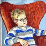 Portrait of George (age 7), 1983     Oil on panel, 9.5 x 11, Collection of the Artist