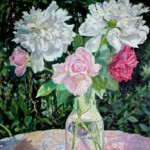 Peonies and Roses, 1979     Oil on canvas, 20 x 26