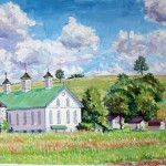 Shirey Farm II, 2006     Casein, 14 x 19