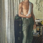 Self Portrait in Yellow Room, 1956     Oil on Canvas, 46 x 24