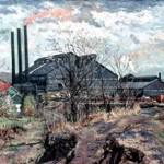 Standard Steel (Alcoa), 1963     Oil on canvas, 25 x 30