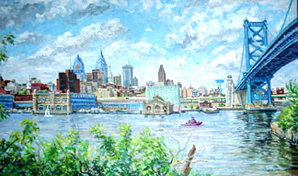 View of Philadelphia from Camden